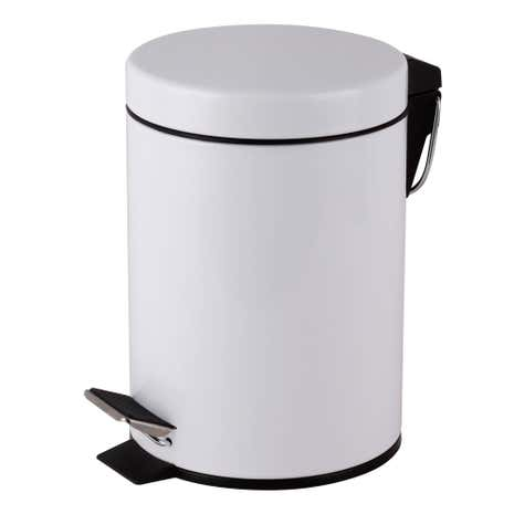 Essentials 3 Litre White Pedal Bin