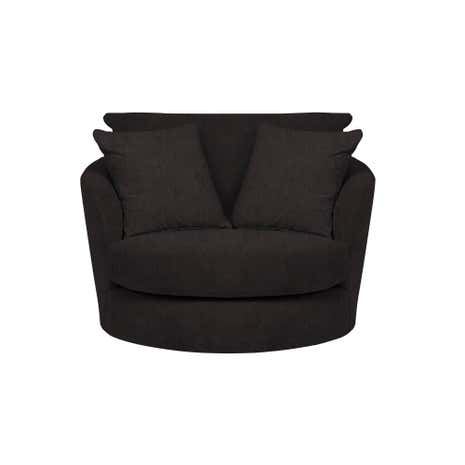 Cosmo Faux Leather Small Swivel Chair