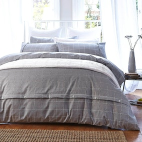 Bianca Cotton Brushed Cotton Duvet Cover and Pillowcase Set