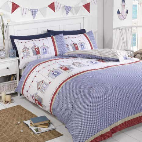 Rapport Home Beach Huts Duvet Cover And Pillowcase Set