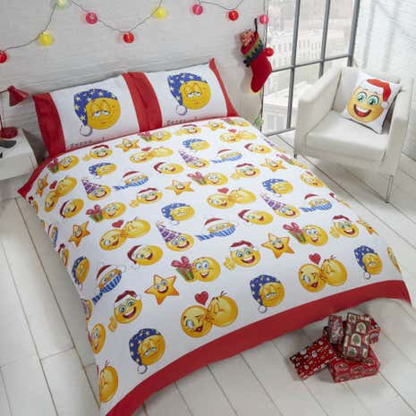 Christmas Icons Duvet Cover and Pillowcase Set