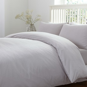 Brushed Cotton Silver Duvet Cover