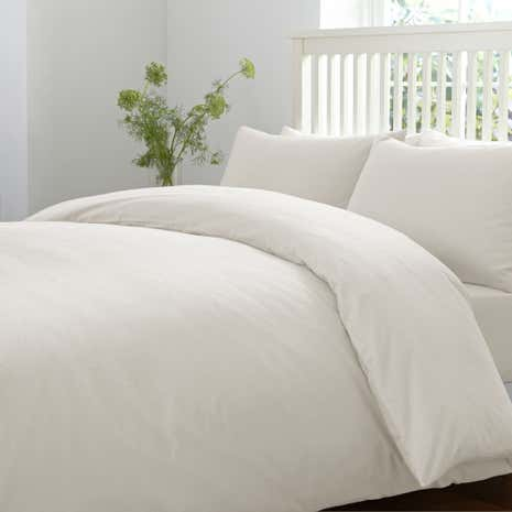 brushed cotton cream duvet cover dunelm. Black Bedroom Furniture Sets. Home Design Ideas