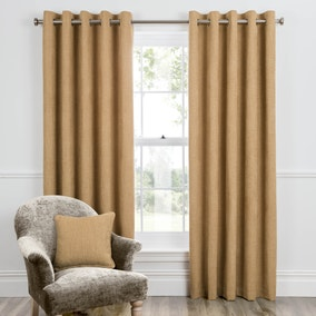 Dorma Bourton Ochre Eyelet Curtains