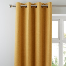Harris Ochre Thermal Eyelet Curtains