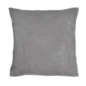 Large Chenille Spot Charcoal Cushion