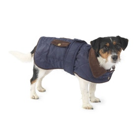 House of Paws Navy Waterproof Quilted Jacket
