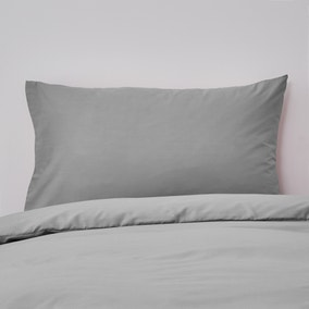 Non Iron Plain Dye Slate Housewife Pillowcase Pair
