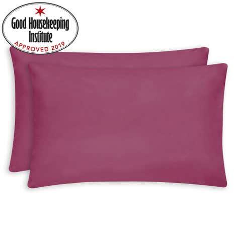Non Iron Plain Dye Fuchsia Housewife Pillowcase Pair