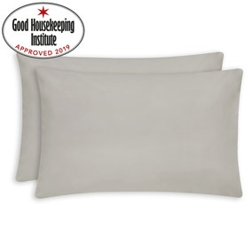 Non Iron Plain Dye Cream Housewife Pillowcase Pair