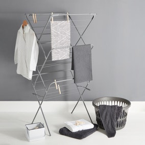 Dunelm 3 Tier Grey Wide Airer