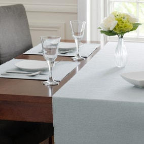 Pack Of Two Duck Egg Ribbed Placemats