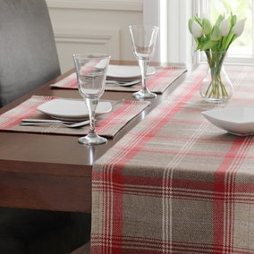 Set Of Two Red Highland Check Placemats