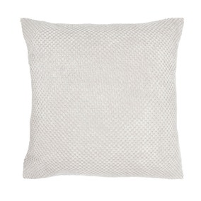 Large Chenille Spot Ivory Cushion