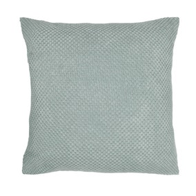 Large Chenille Spot Seafoam Cushion