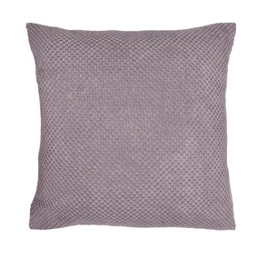 Large Chenille Spot Mauve Cushion