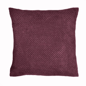 Chenille Spot Plum Cushion