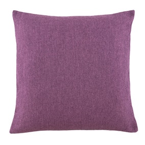 Essentials Large Barkweave Aubergine Cushion