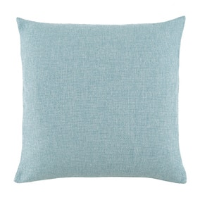 Essentials Large Barkweave Blue Cushion