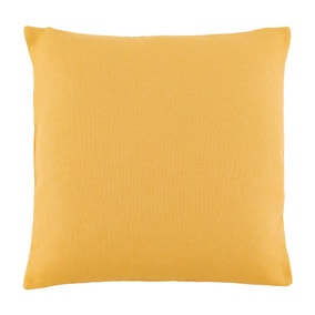 Essentials Large Barkweave Ochre Cushion