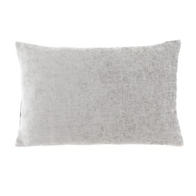 Large Chenille Rectangular Grey Cushion