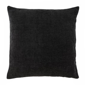 Large Chenille Black Cushion