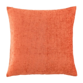 Chenille Large Rust Cushion