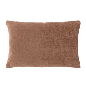 Chenille Rectangular Chocolate Cushion
