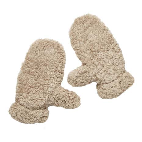 Teddy Bear Adult Taupe Mittens