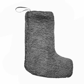 Teddy Bear Charcoal Stocking