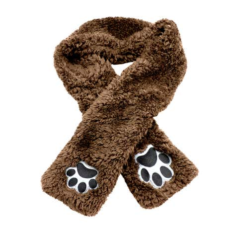 Teddy Bear Kids Brown Scarf