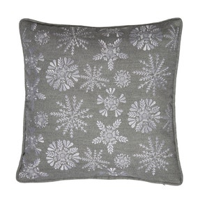 Snowflake Embroidered Cushion