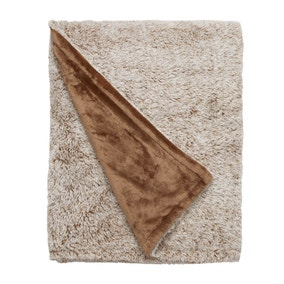 Teddy Bear Marled Mink Throw