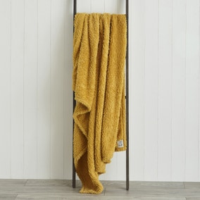 Teddy Bear Ochre Throw