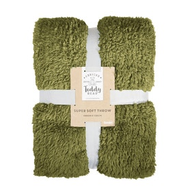 Teddy Bear Moss Green Throw
