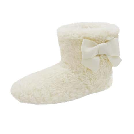 Teddy Bear Cream Slipper Boots