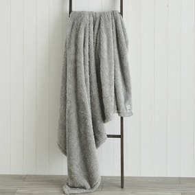 Teddy Bear Grey Throw