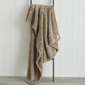 Teddy Bear Taupe Throw
