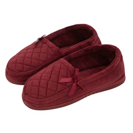 Ladies Traditional Red Slippers