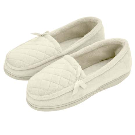 Ladies Traditional Cream Slippers