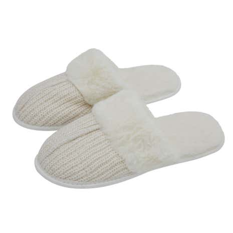 Lurex Knit Stone Mule Slippers