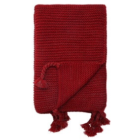 Sparkle Knit Red Throw