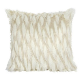 White Pokey Faux Fur Cushion