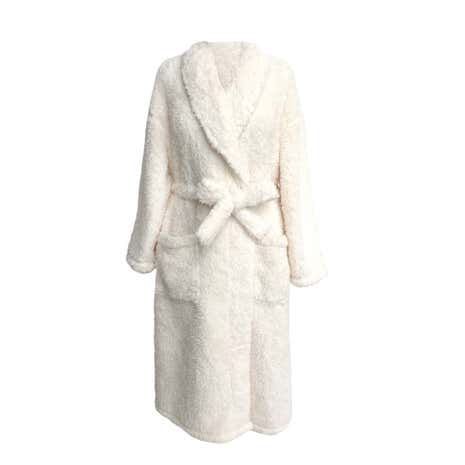 Teddy Bear Ladies Cream Bathrobe