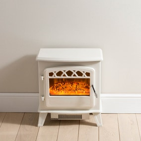 Medium White Stove Effect Heater 1850W