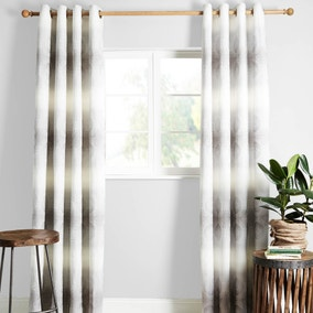 Chenai Grey Lined Eyelet Curtains