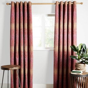 Jaipur Pink Lined Eyelet Curtains