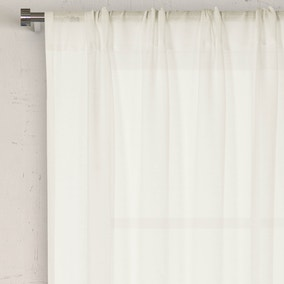 Lille Ivory Slot Top Voile Panel