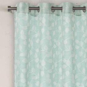 Lourdes Duck Egg Eyelet Voile Panel