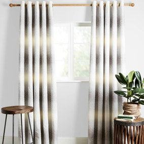 Jaipur Grey Lined Eyelet Curtains